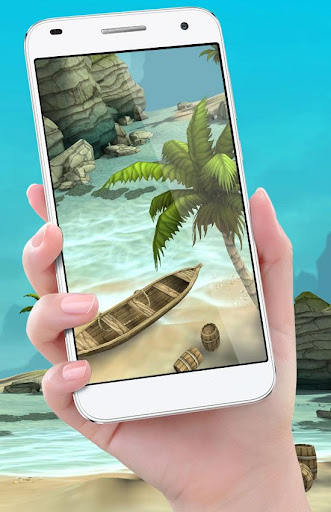 Beach Live Wallpaper HD Background: Island 3D 1.6 screenshots 1