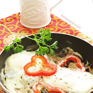 Red Pepper Poached Eggs