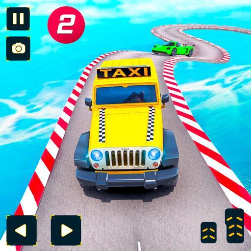 Taxi Jeep Car Stunts Games 3D: Ramp Car Stunts Icon