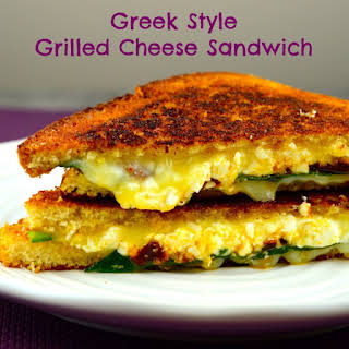 Greek Style Grilled Cheese Sandwich.