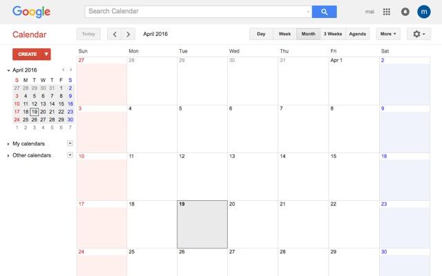 Google Calendar Color