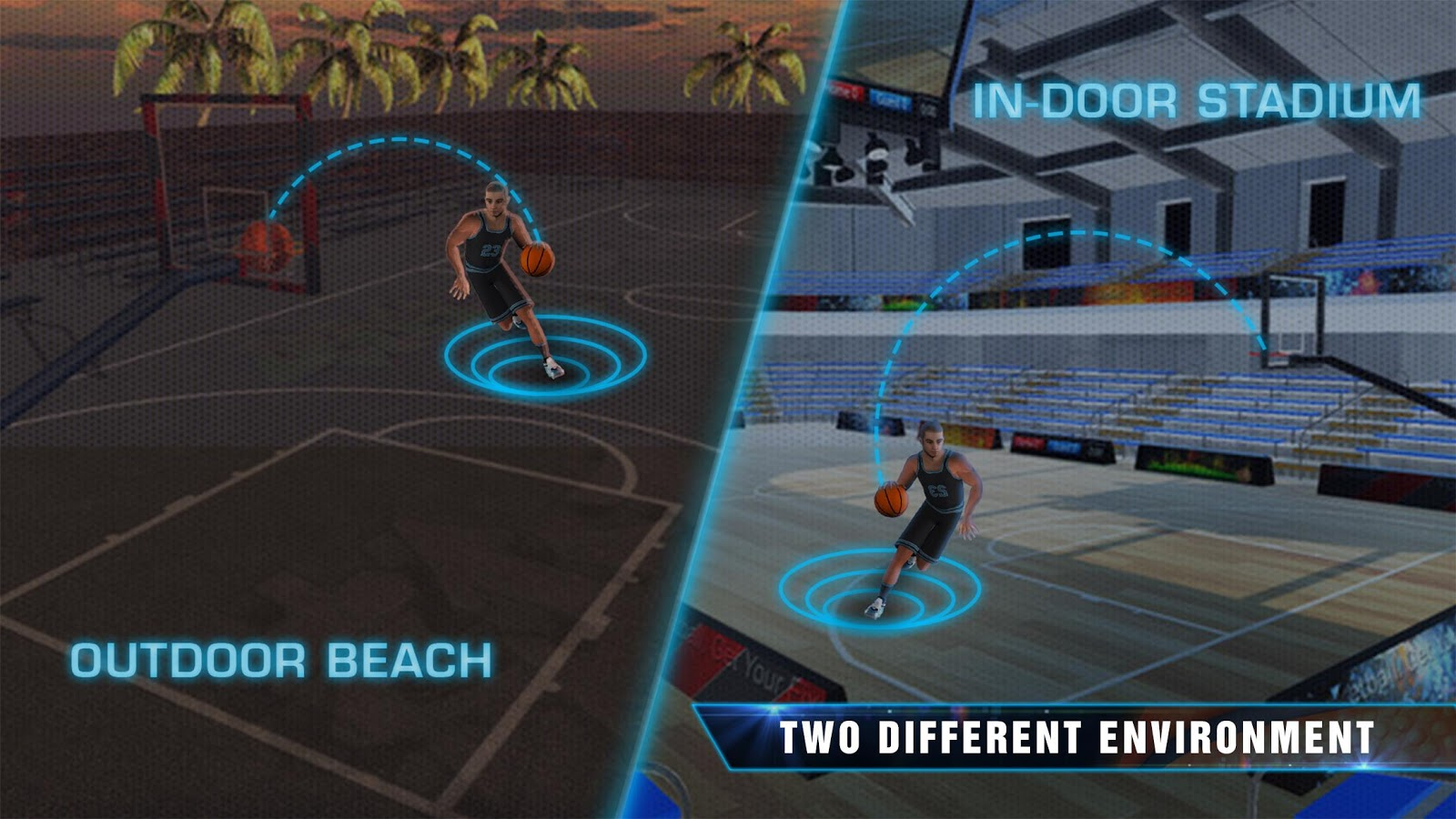 Slam Dunk Real Basketball - 3D Real Shooting King- screenshot