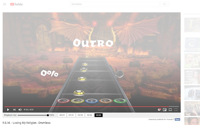 Youtube player for musicians