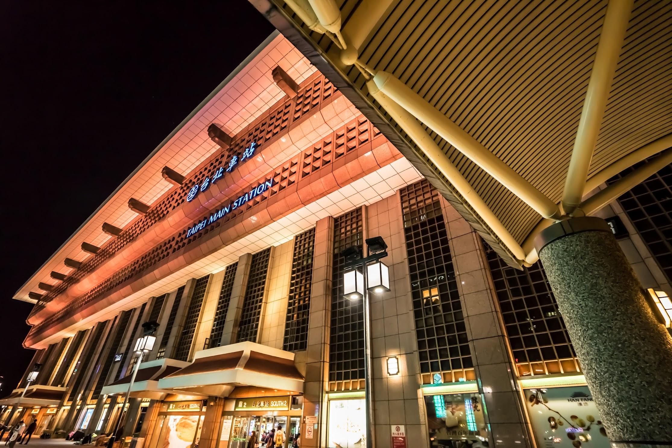 台北駅 ライトアップ3