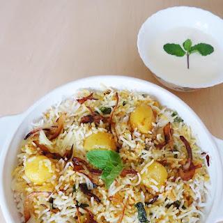 Aloo Dum Biryani, Potato Biryani