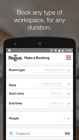 Regus offices & meeting rooms Screenshot