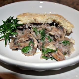 Beefy Spinach and Mushroom Casserole