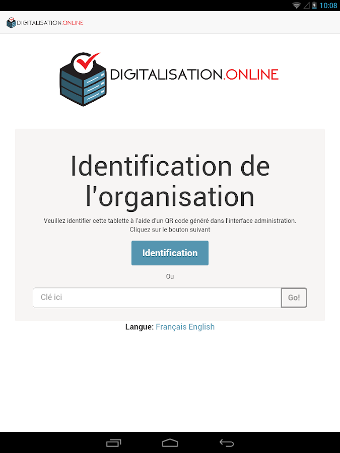 DIGITALISATION ONLINE – Capture d'écran
