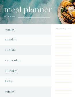 Meal Planner Week - Weekly Schedule item