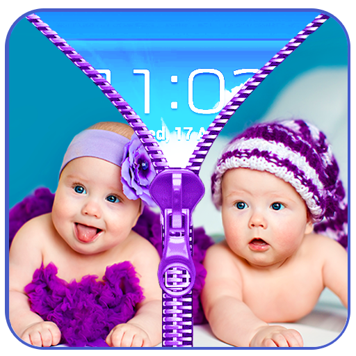 Cute Baby Zip LockScreen Prank