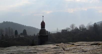 Photo: Zicht vanuit de jeugdherberg auf dem Schloss