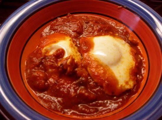 Surprisingly Delicious Sunday Brunch. Eggs Marinara For The Sassy Eater.
