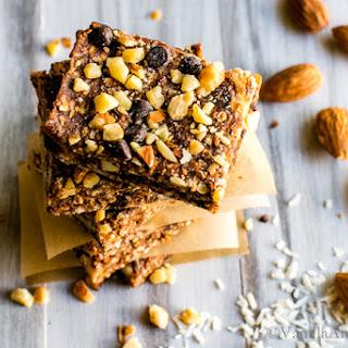 No Bake Vegan Chocolate Almond Coconut Bars
