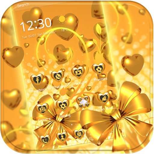 Gold Heart Love Theme Android APK Download Free By Wonderful DIY Studio