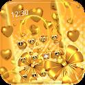 Gold heart love Theme icon