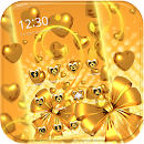 Gold heart love Theme v 1.1.1