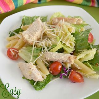 Easy Grilled Chicken Pasta Salad.
