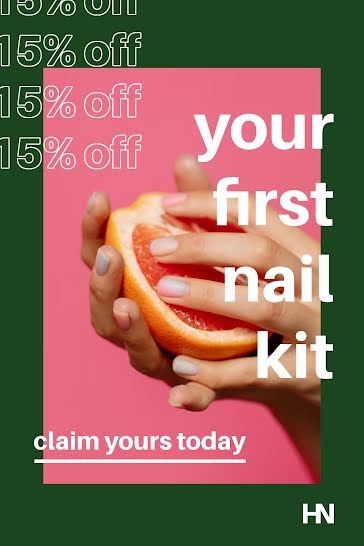 First Nail Kit - Postcard template