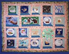 Photo: This quilt includes all the necessary steps to celebrate the Passover Seder.