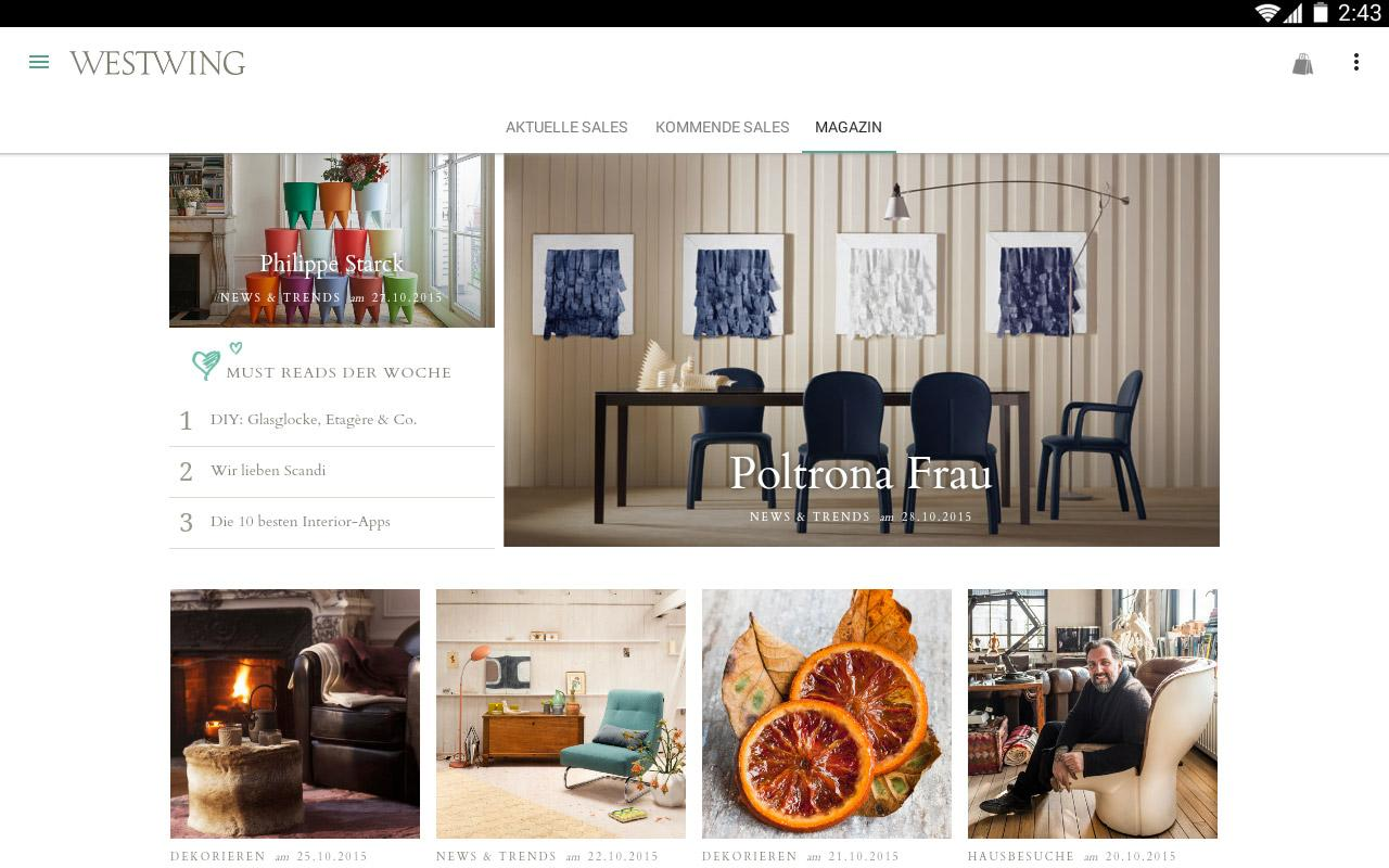 westwing m bel inspiration android apps auf google play. Black Bedroom Furniture Sets. Home Design Ideas