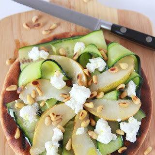 Grilled Pear Cucumber Flatbread Recipe
