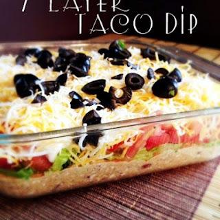 7 Layer Taco Dip.