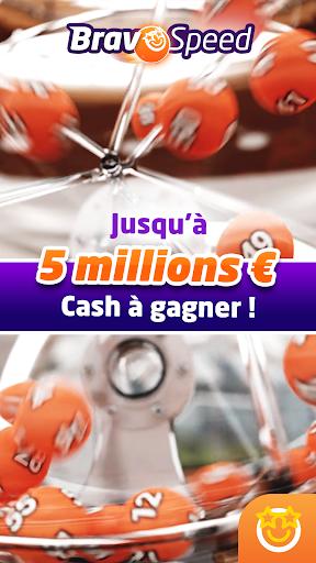 Code Triche Bravospeed : loterie gratuite à 5M€ APK MOD (Astuce) screenshots 1