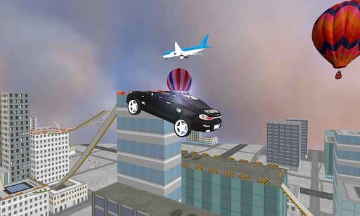911警車車頂跳躍