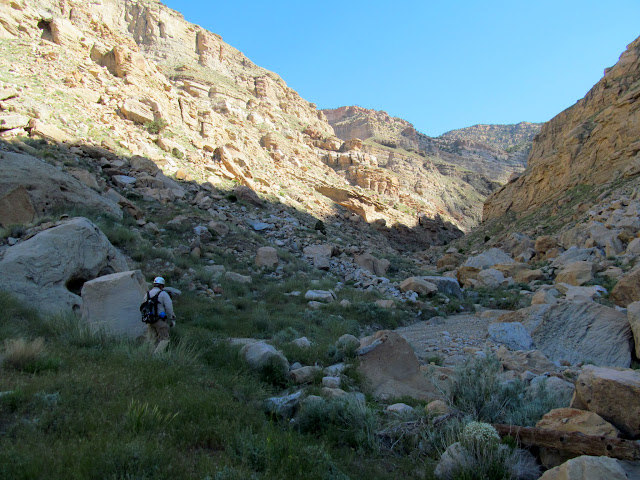 Hiking up Lila Canyon