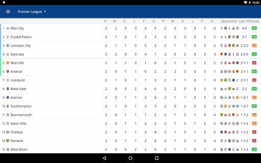 EPL Live: English Premier League scores and stats 8.0.4 Screenshots 11