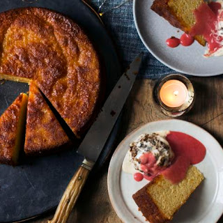 Spiced Orange Cake with Christmas Pudding Ice Cream Recipe