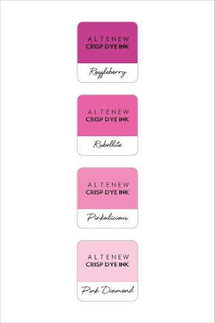 Altenew Dye Inks 4 Mini Cube Set - Cherry Blossom