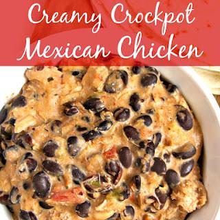 CREAMY CROCKPOT MEXICAN CHICKEN
