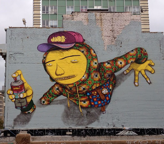 """Remembering Jade"" by Os Gemeos. Photo: Juxtapoz."