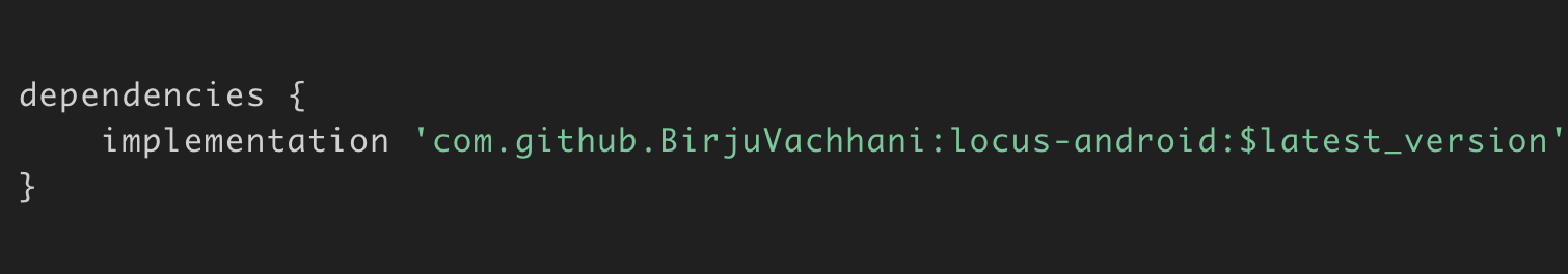 dependency to your build gradle