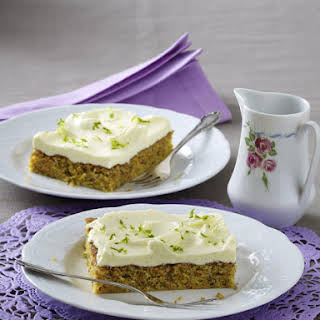 Almond Carrot Cake with Vanilla Icing.