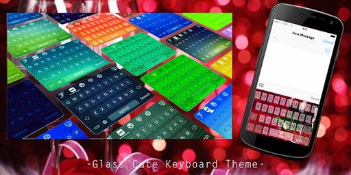 Glass Cute Keyboard Theme