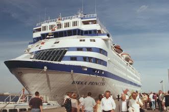 """Photo: """"Birka Princess"""" 2000 in Gdynia - heute als """"Sea Diamond"""" in Griechenland auf dem Meeresgrund"""