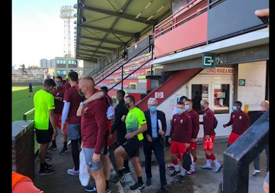 Les joueurs du Standard n'ont pas pu se changer au Pairay avant Monaco