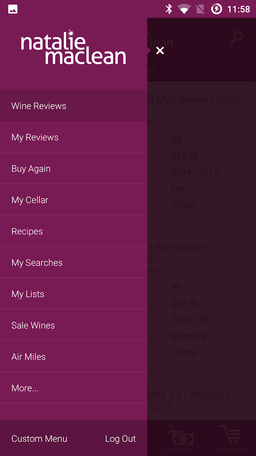 Wine Scanner, Ratings, Cellar- screenshot