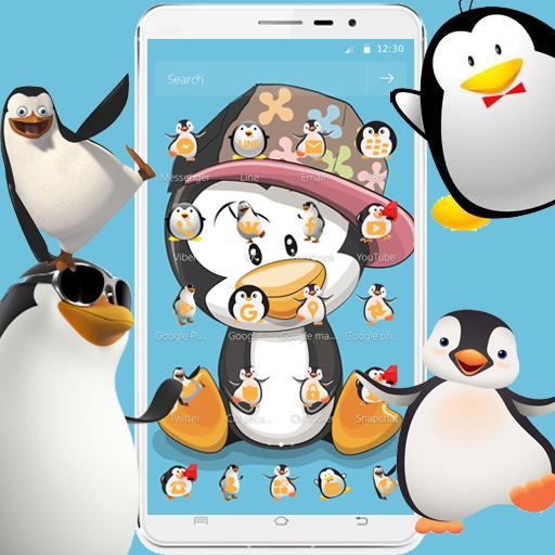 Cute Cartoon Penguin Theme Icon