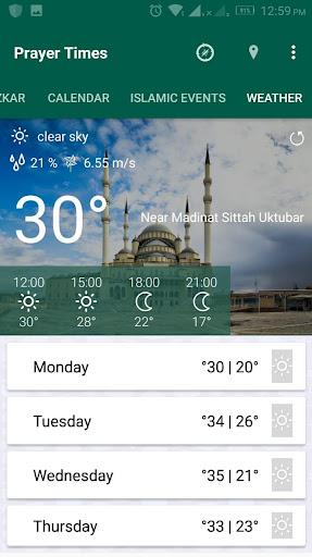 Prayer Times - Azan , Azkar , Qibla & Weather screenshots 7