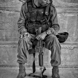 soldier by Moshe Friedline - People Street & Candids