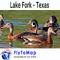 Lake Fork Texas gps fish chart icon