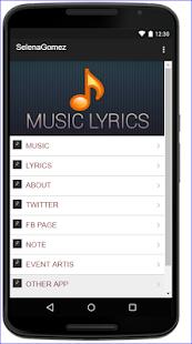 Selena Gomez Music Lyrics - náhled