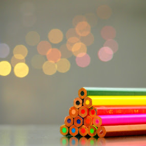 a pile of colour pencils by Lisawati Gunawan - Products & Objects Education Objects ( colour, challange, pencils, circle, pwc79,  )