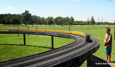 Photo: Art Gibson's passenger train.      HALS Public Run Day 2015-0919 RPW