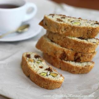 Fig & Pistachio Cornmeal Biscotti