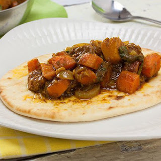 Pumpkin Curry with Naan Bread
