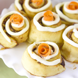 Carrot Cake Cinnamon Rolls with Cream Cheese Icing